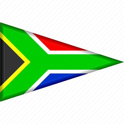 country, flag, national, pennant, south africa, triangle icon