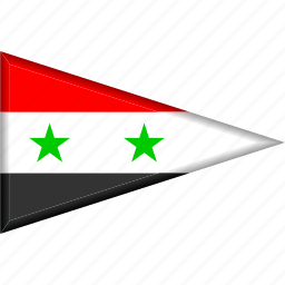 country, flag, national, pennant, syria, triangle icon