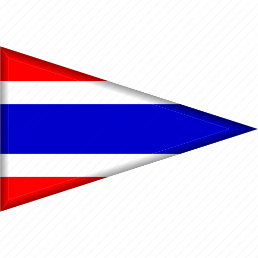 country, flag, national, pennant, thailand, triangle icon