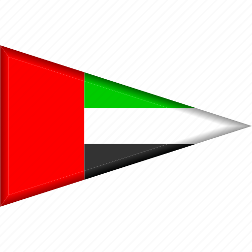 country, flag, national, pennant, triangle, uae, united arab emirates icon