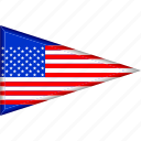 country, flag, national, pennant, triangle, us, usa