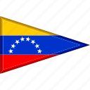 country, flag, national, pennant, triangle, venezuela