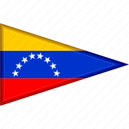 country, flag, national, pennant, triangle, venezuela icon