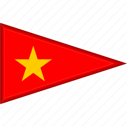 country, flag, national, pennant, triangle, vietnam icon