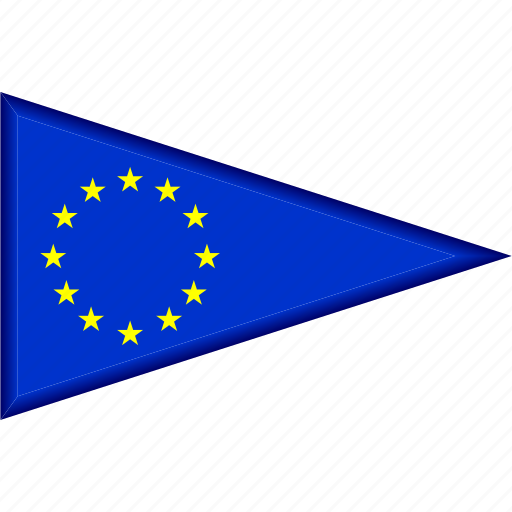 country, eu, europe, flag, national, pennant, triangle icon