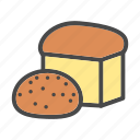bread, bun, category, food, market, pastries icon