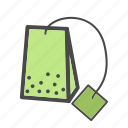 category, food, market, tea, tea bag icon
