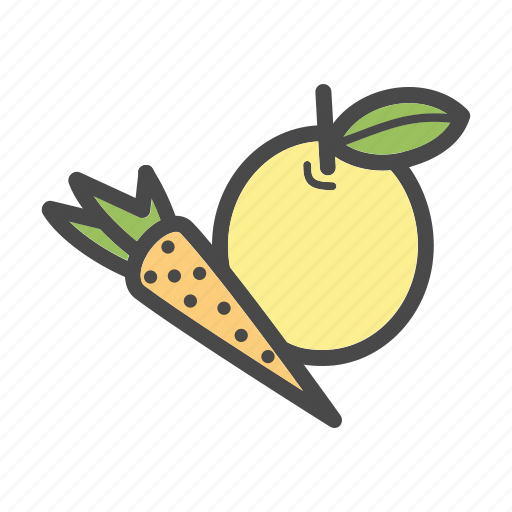 apple, carrot, category, food, fruits, market, vegetables icon