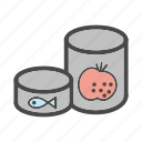 canned food, category, fish, food, market, tomato icon