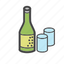 alcohol, bottle, category, drink, food, glasses, market icon