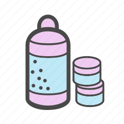 category, cosmetics, cream, household chemicals, market, shampoo, shower gel icon