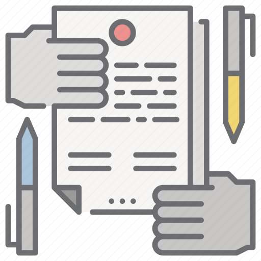 contract, document, law, paper, sign icon