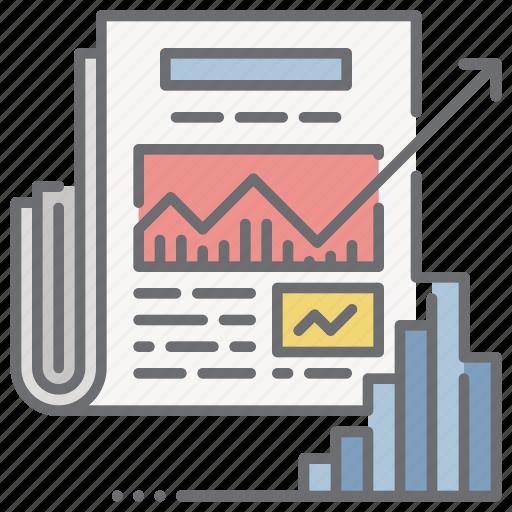 chart, economic, news, newspaper, stat icon