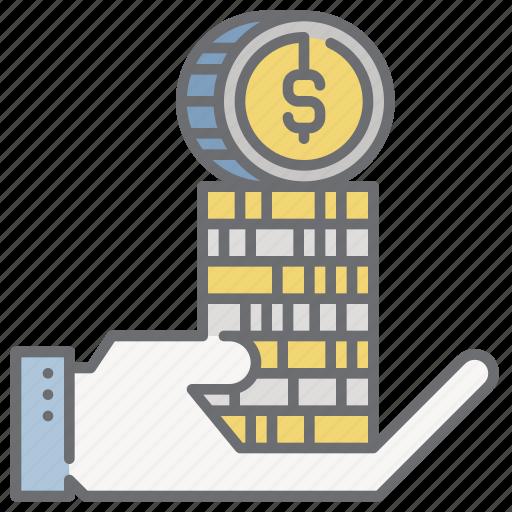 income, money, payday, profit, revenue icon