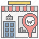 location, market, shop, shopping, store, storefront icon