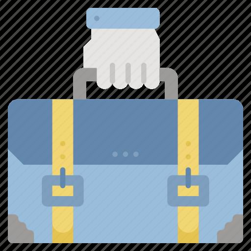 briefcase, businessman, career, job, work icon