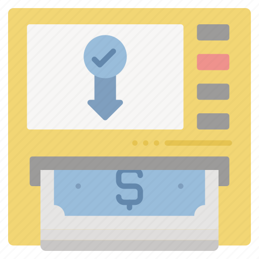 atm, banking, cash, machine, money, out icon