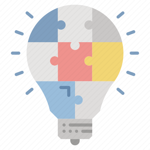 business, creativities, idea, innovation, puzzle, technology icon