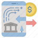 banking, finance, internet, mobile, payment icon