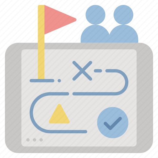 consultant, goal, planning, strategy, tactics icon