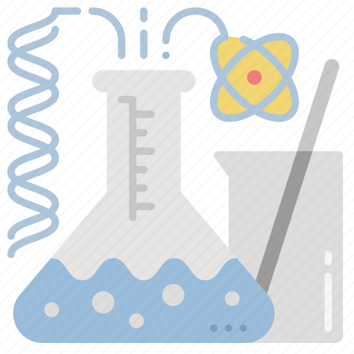 development, dna, flask, research, science icon