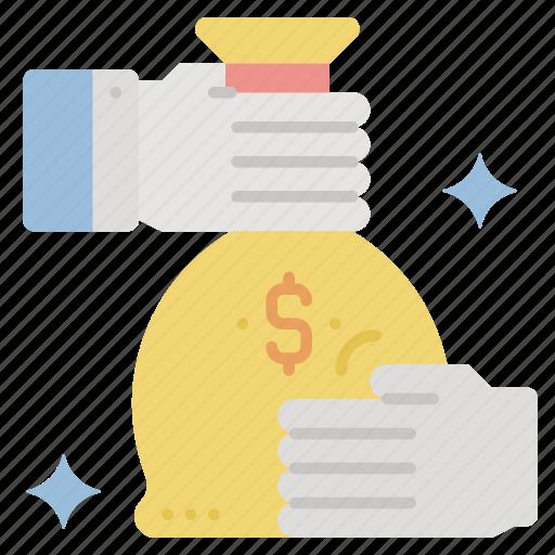 bonus, compensation, money, pay, salary, wages icon