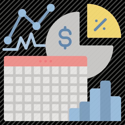 analytics, dashboard, sales, spreadsheet, statistics icon