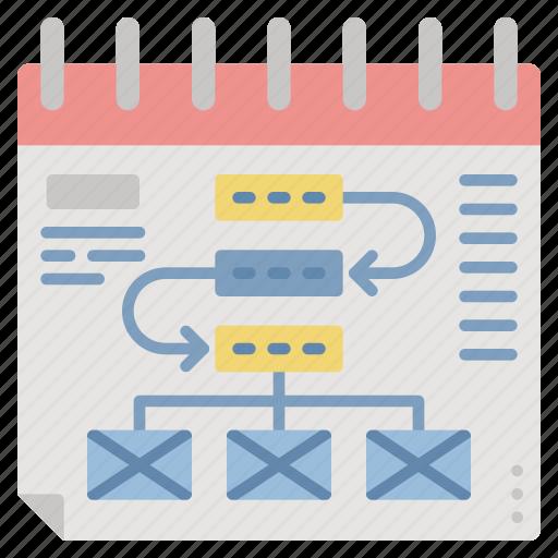 business, management, planning, schedule, task icon