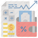 accounting, finance, money, return, tax, vat icon