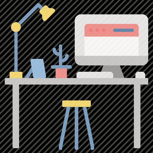 Creative, desk, office, workspace, desktop icon - Download