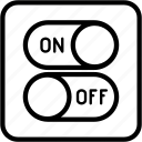 control, disable, enable, off, on, switch, turn icon