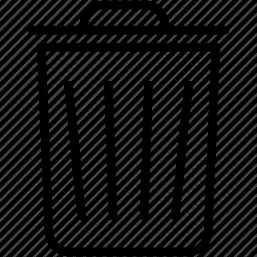 bin, delete, dustbin, erase, garbage, recycle, trashcan icon