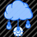air, brainstorm, bulb, cloud, idea, light, storm icon