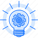bulb, cogwheel, idea, light, mechanism, optimization, setting icon