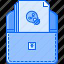 bulb, case, creative, idea, portfolio, presentation, work icon