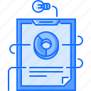 bulb, business, description, idea, plan, presentation, tablet icon