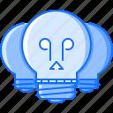 bulb, creative, death, idea, light, skull