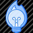 bonfire, bulb, creative, fire, hot, idea, light icon