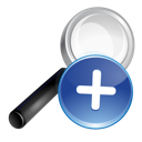 blue, plus, search icon