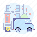delivery, truck, box, package, shipment, shipping icon