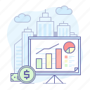 analytics, board, business, growth, presentation, sales icon