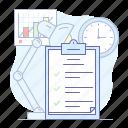 achievments, board, check list, clipboard, list icon
