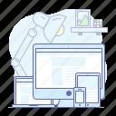 devices, desktop, laptop, mobile, phone, responsive icon