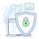 privacy, protection, safety, security, shield icon