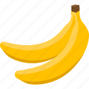 bananas, food, fruit, iconset, illustrative, palpable, tangible icon