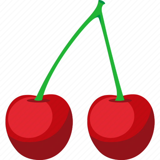 cherries, food, fruit, iconset, illustrative, palpable, tangible icon