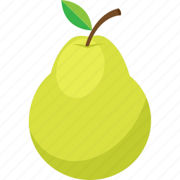 food, fruit, iconset, illustrative, palpable, pear, tangible icon