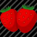 food, fruit, iconset, illustrative, palpable, strawberries, tangible icon