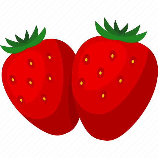 food, fruit, iconset, illustrative, palpable, strawberries, tangible icon