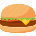 fast food, food, hamburger, iconset, illustrative, palpable, tangible icon